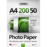 Фотобумага Videx Glossy A4