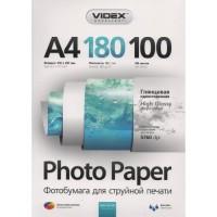 Фотобумага Videx Glossy A4\180