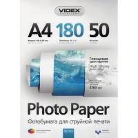 Фотобумага Videx Glossy A4 50 листов